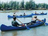 Plaukimas kanojomis Zambezės upe